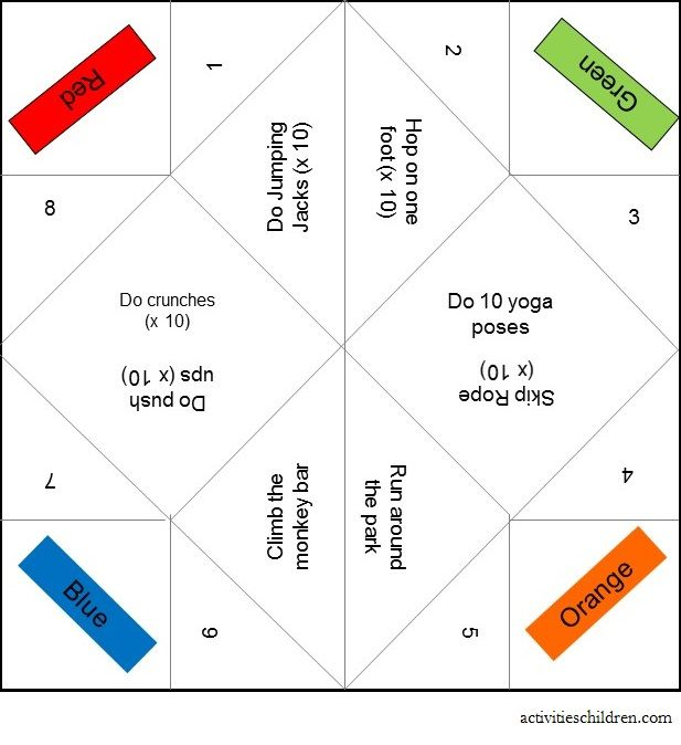 instructions on making fitness fortune teller printable rainy days fortune teller. Black Bedroom Furniture Sets. Home Design Ideas