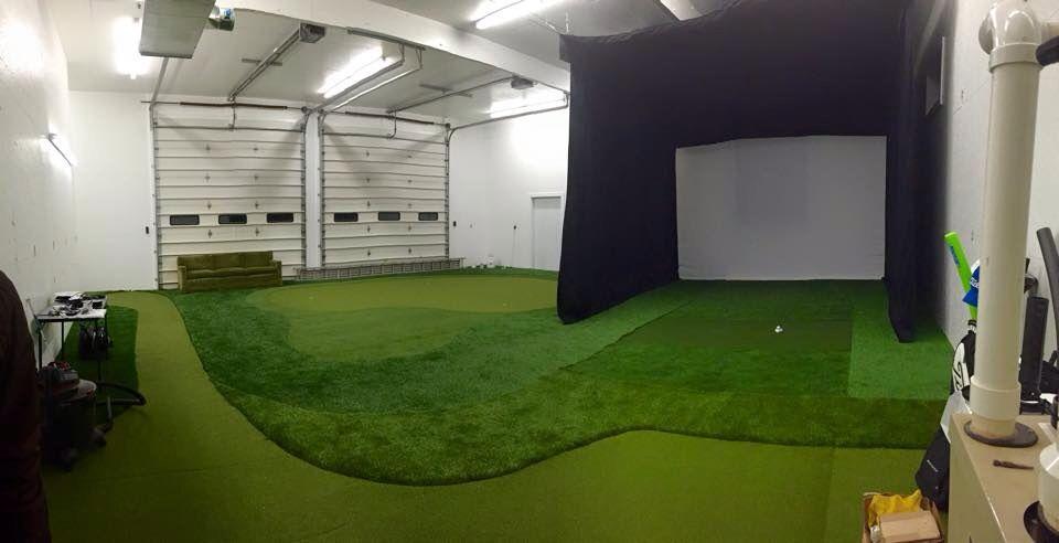 Retro Fitted Diesel Mechanic Garage Into Indoor Golf Studio Golf Golf Simulators Diesel Mechanics