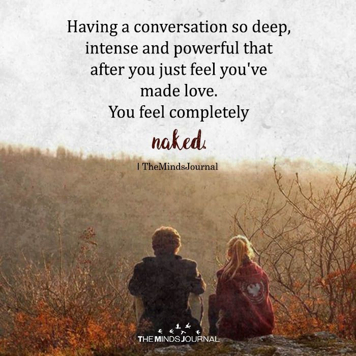 Having A Conversation So Deep