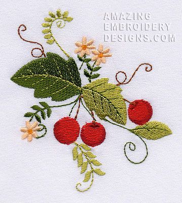 Free Embroidery Design Cherry Embroidery Pinterest Embroidery