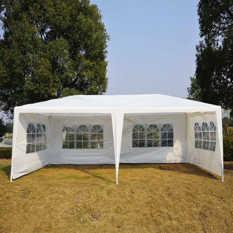 10 X20 Outdoor Wedding Party Tent Patio Gazebo Canopy W Side Walls Multi Color Ebay Canopy Outdoor Patio Canopy Canopy Tent