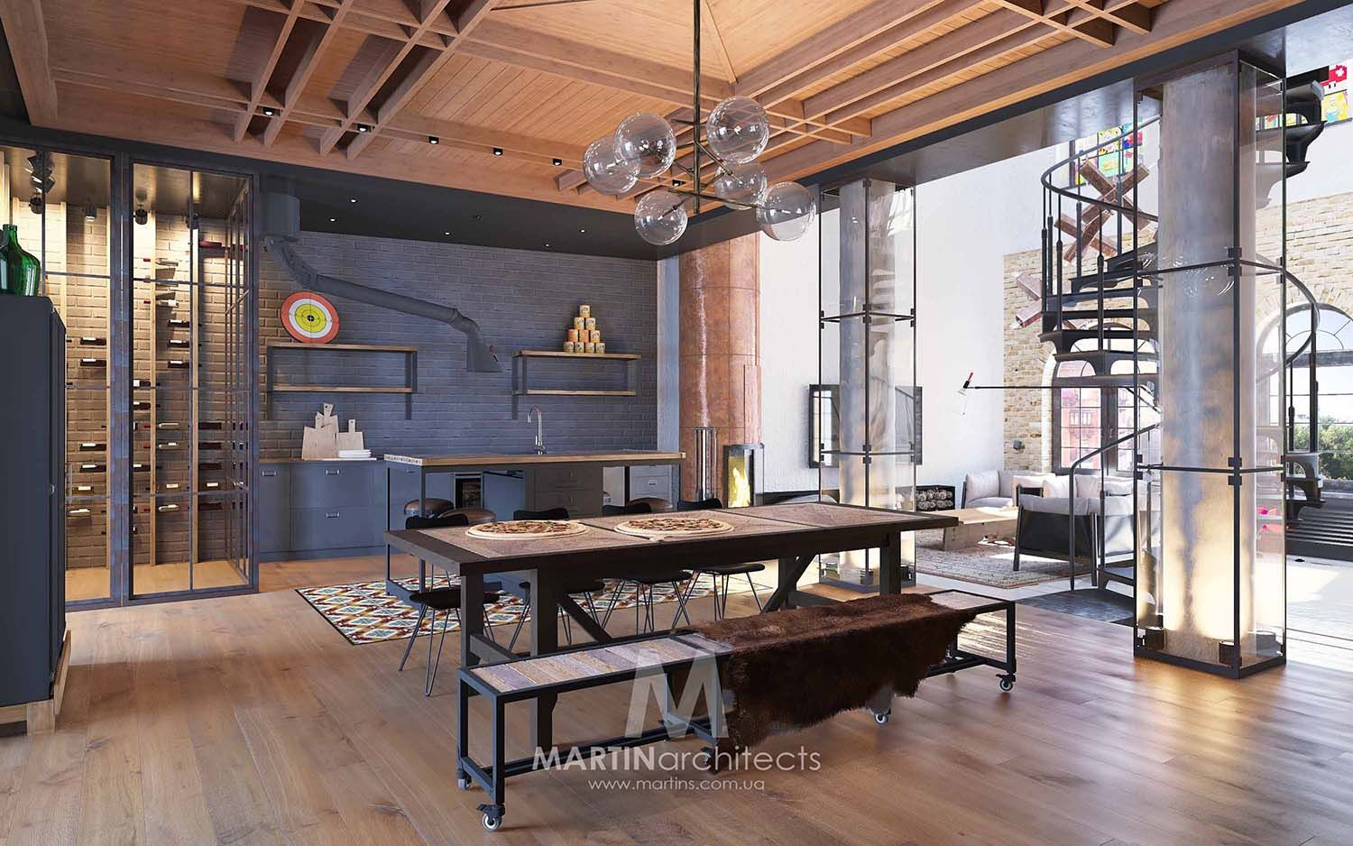 Loft Amenagement Interieur Industrial Style Loft In Kiev Showcases Impressive Design
