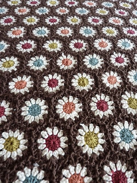 Eralston, on Ravelry, shares her crocheted hexagon masterpiece made ...