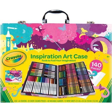 Blaze 52 Piece Craft Art Set Crayons Paints Pencils Gift Carry Case