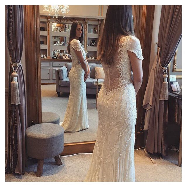 Wedding Gowns Nashville: Hand Embellished Lace Detail, Scattered Floral Sequins And