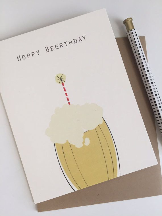 Hoppy Beerthday- Card Paper envelopes and Products - money size envelopes