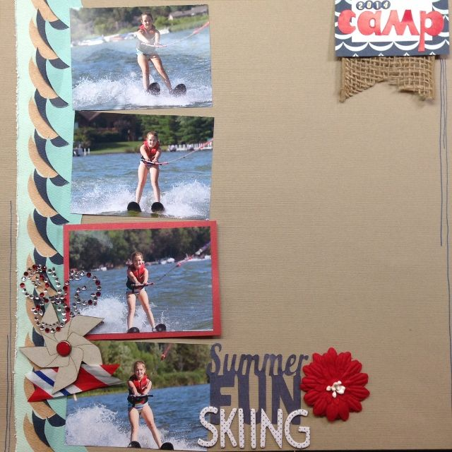 Birds of a Feather Kit Co. July 2014 Kit Summer Fun Skiing