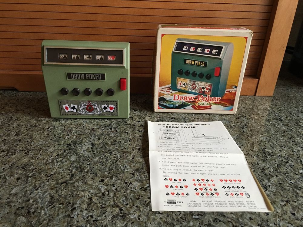 Vintage 1971 DRAW POKER Battery Operated by WACO with Orig ...