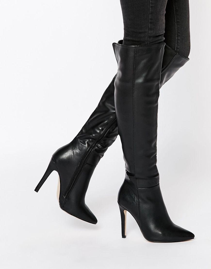 138b1f0ddd0 Truffle Collection Faye Point Heeled Over The Knee Boots