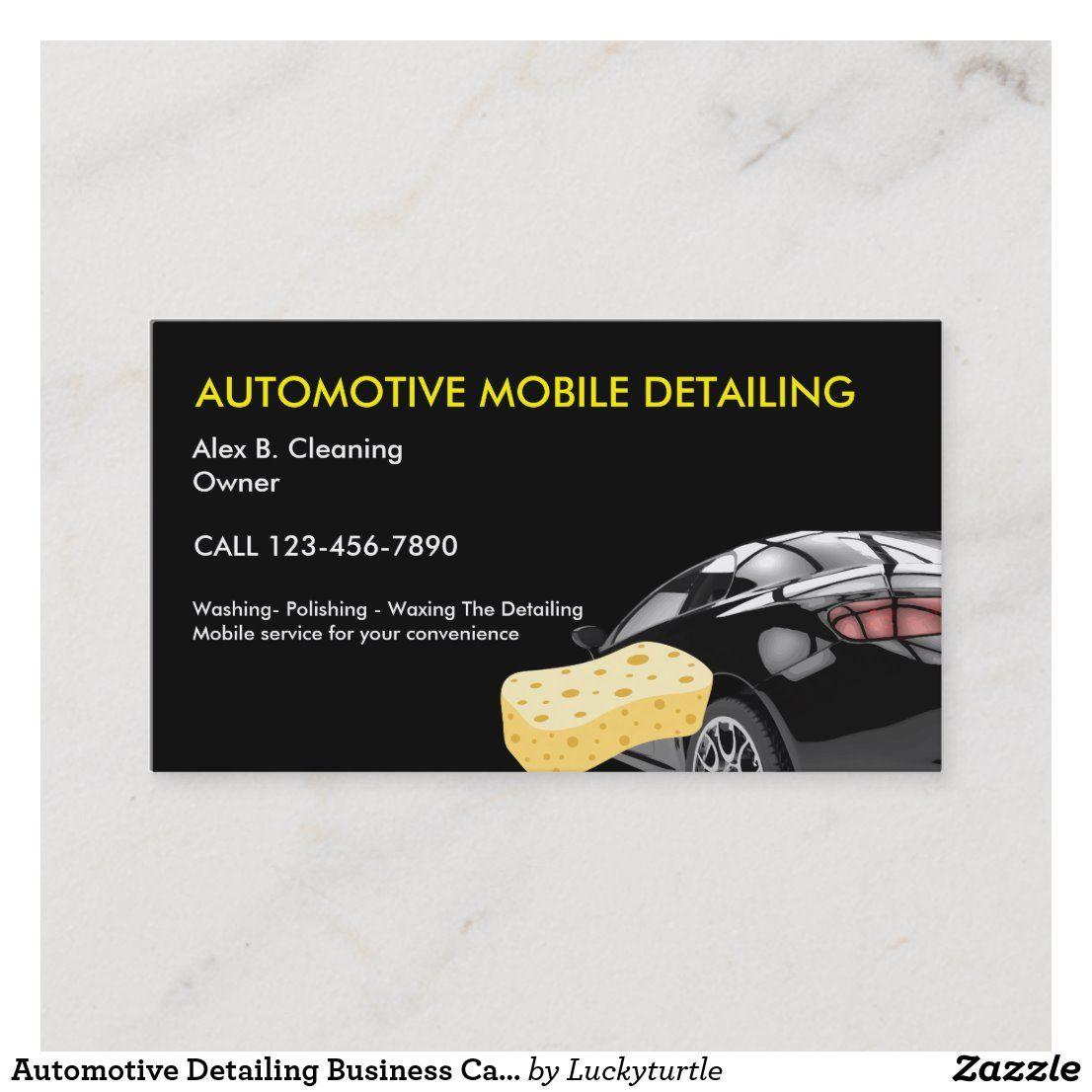Automotive Detailing Business Cards Zazzle Com Automotive Detailing Automotive Car Wash Business