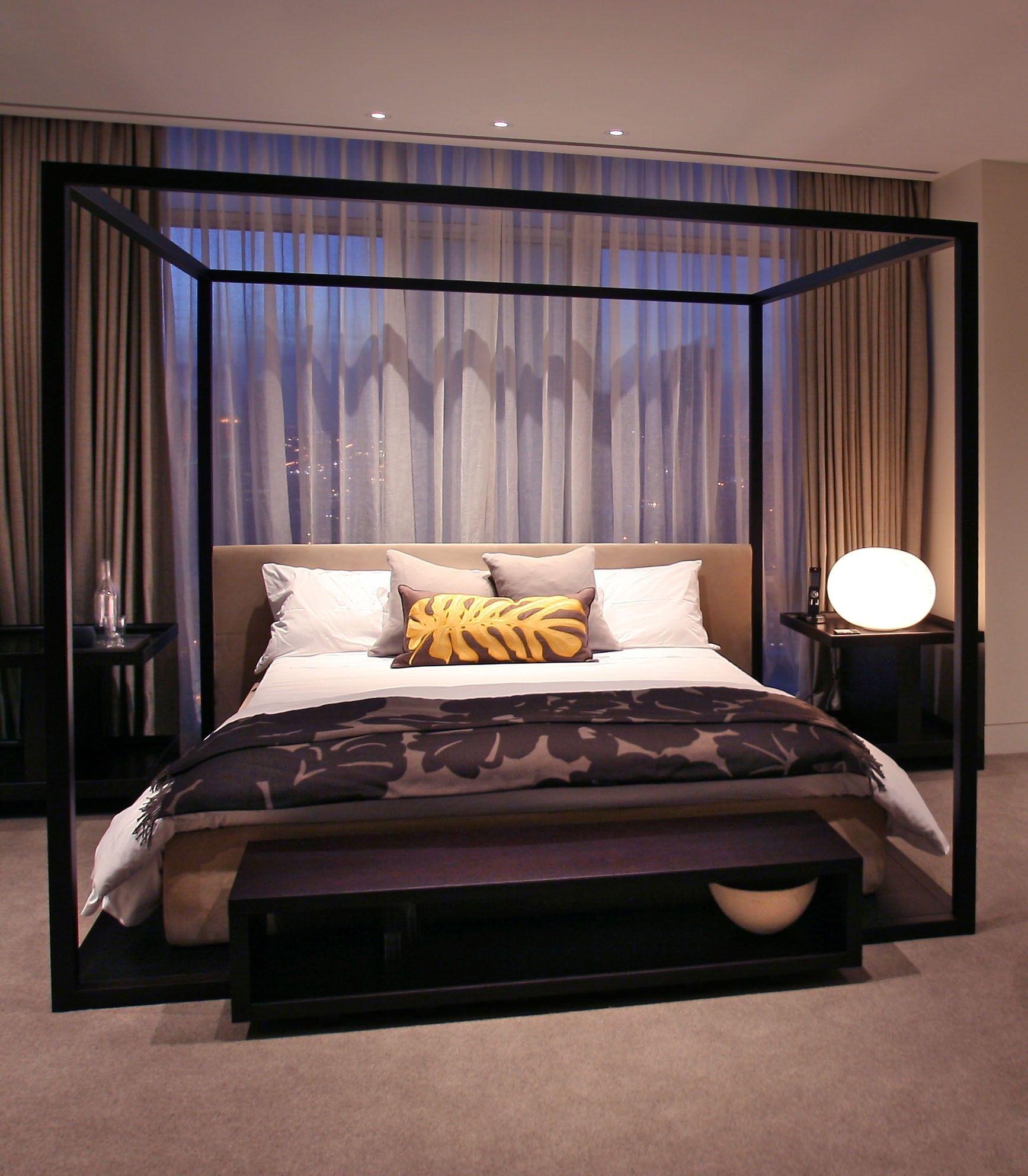 Pin by Alana Medina on Bedroom Canopy bed frame, Modern