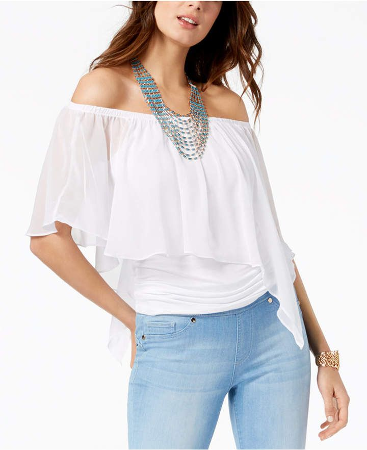 174a05ba27b9 Convertible Off-The-Shoulder Top, Created for Macy's   Products ...