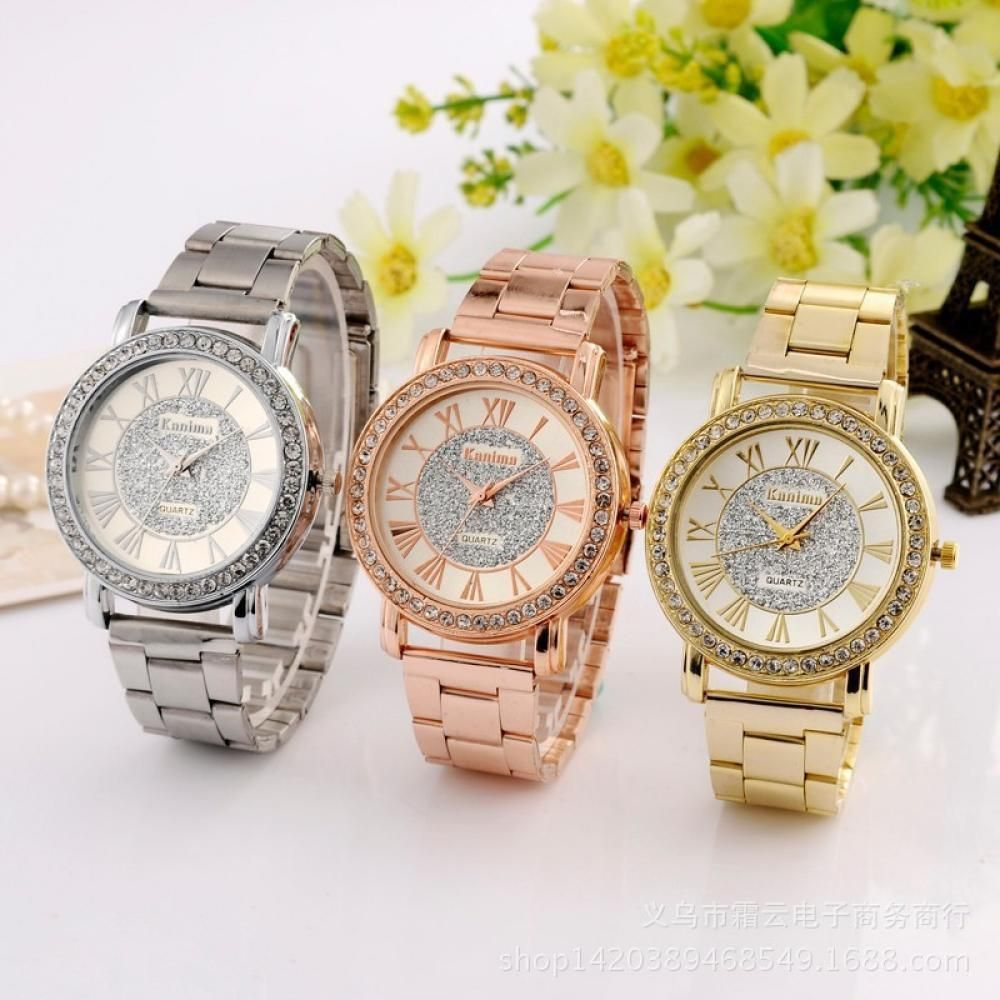374 women mens diamond crystal stainless steel bracelet analog 374 women mens diamond crystal stainless steel bracelet analog quartz wrist watch ebay gumiabroncs Gallery