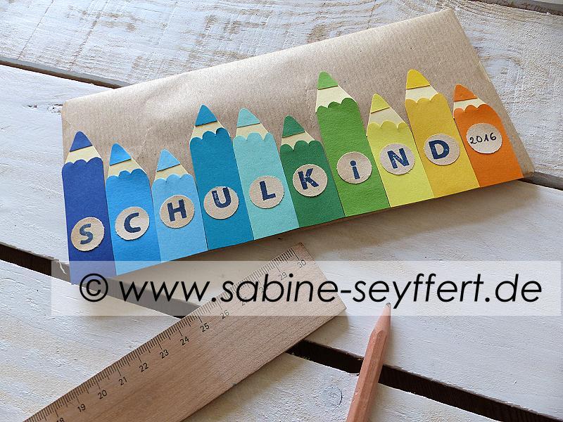 """Bastelidee & DIY zum Schulstart: Geschenke zur Einschulung wunderschön verpackt """"Buntstifte"""" # 3"""