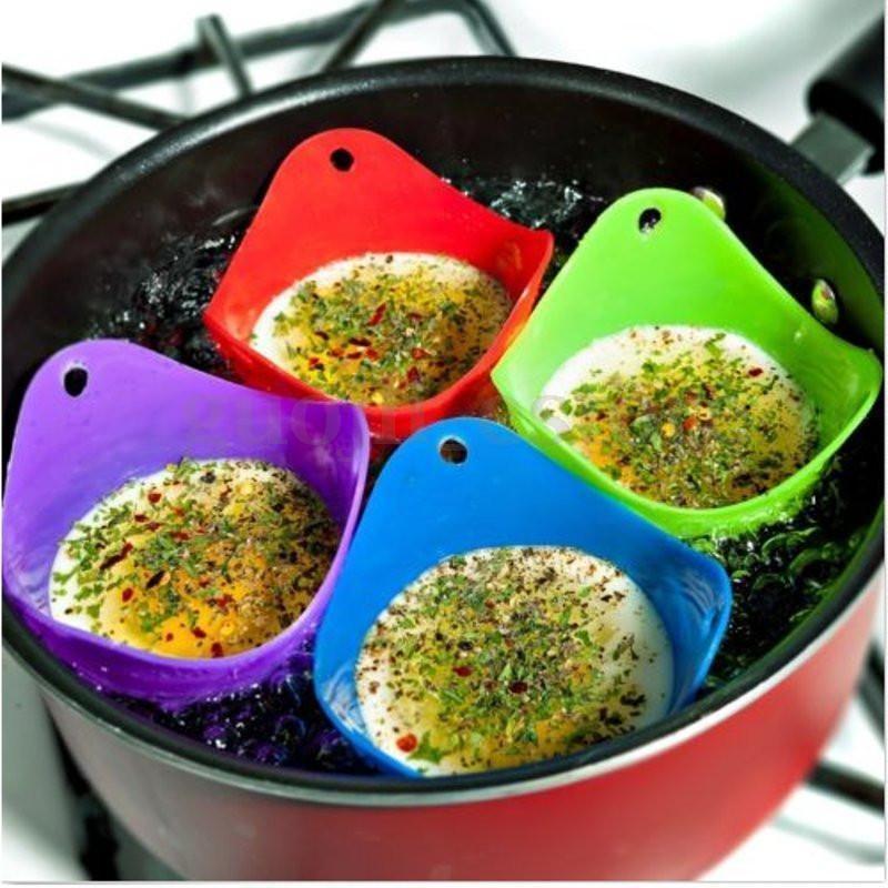 5pcs Silicone Egg Poacher USA SELLER Cook Poach Kitchen Baking Cup Cookware NEW