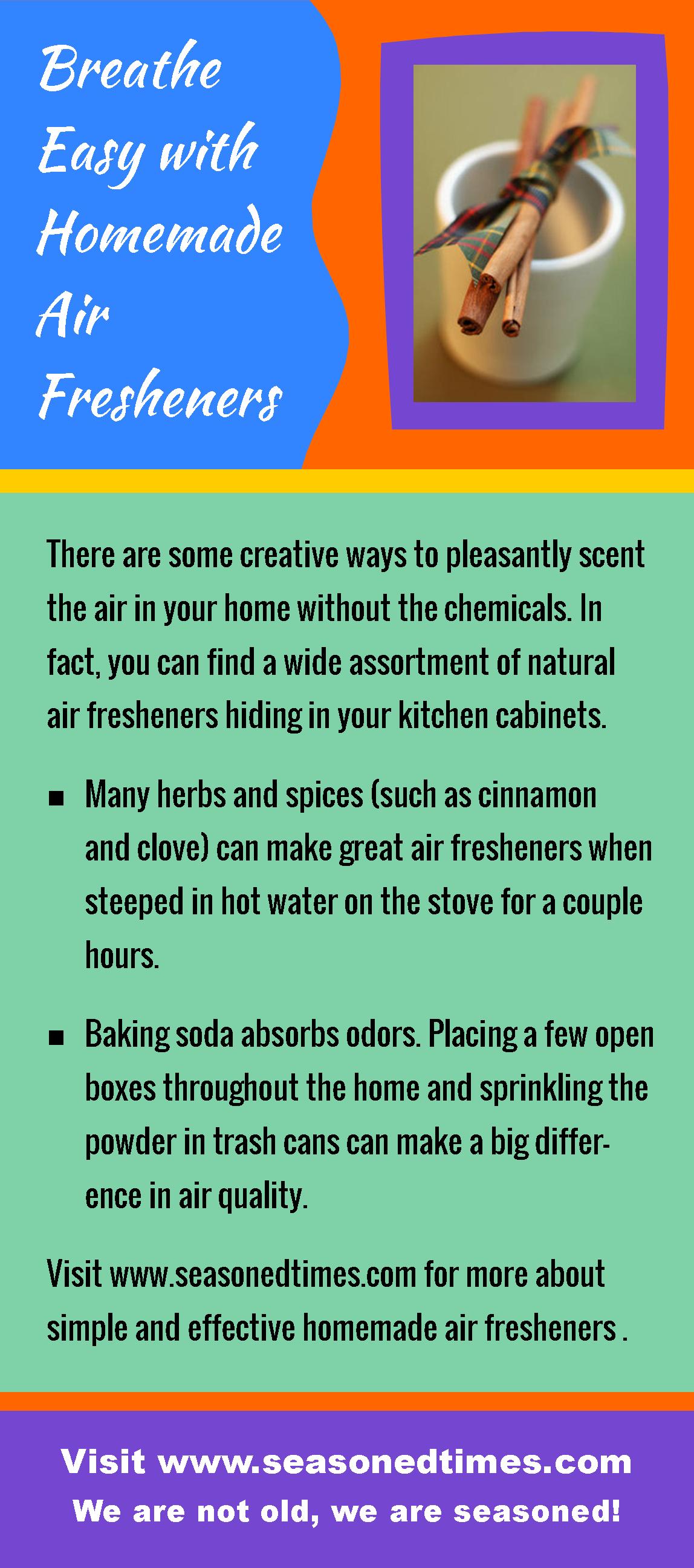 Breathe Easy with Homemade Air Fresheners. Seasoned Times