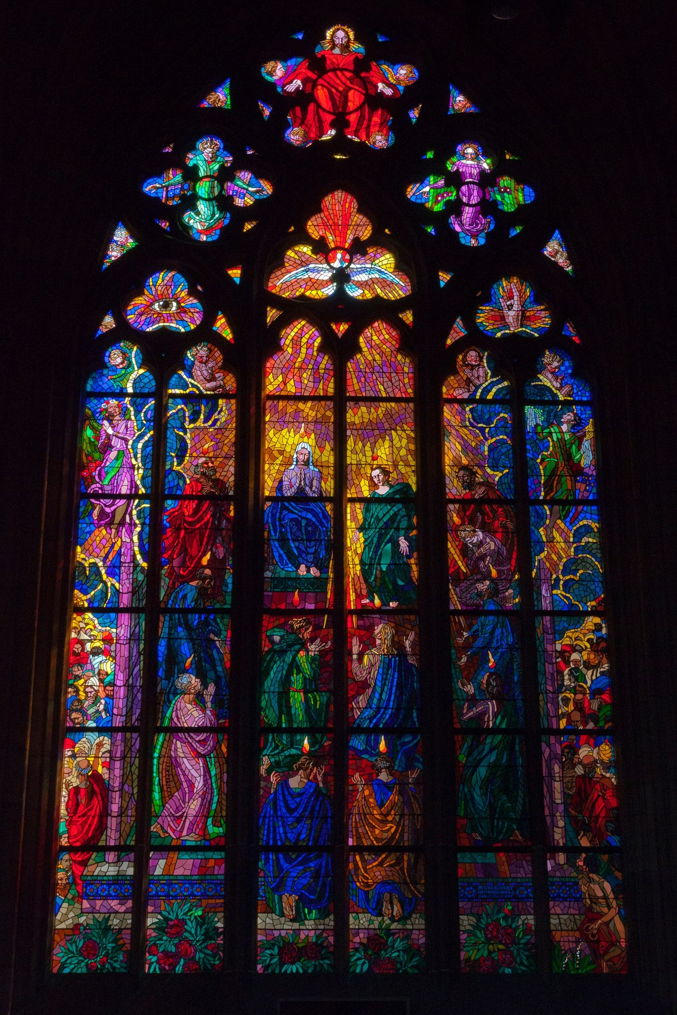 Franklin art glass studios inc clear cotswold glass 3 320 - Saint Vitus Cathedral Prague Stained Glass Window