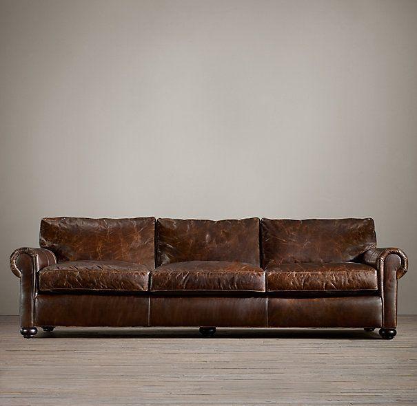Original Lancaster Leather Sofa Leather Sofa Living Room