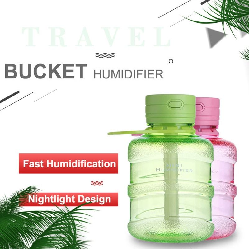 Mini Humidifier USB Air Diffuser 200ML Home Office With Night Light For /_ DR