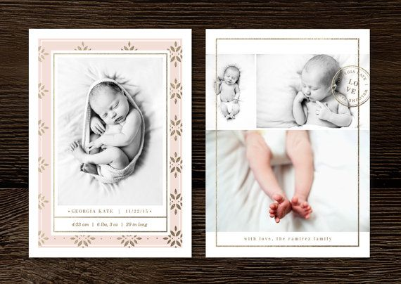 Baby Announcement Template Newborn Attract your ideal clients with – High End Birth Announcements