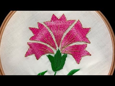 Hand Embroidery Flowers Designs Tutorial For Beginners By Diy