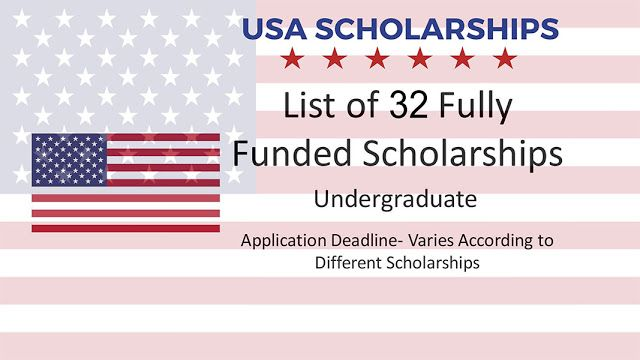 USA Full Tuition Scholarships for International Students ...