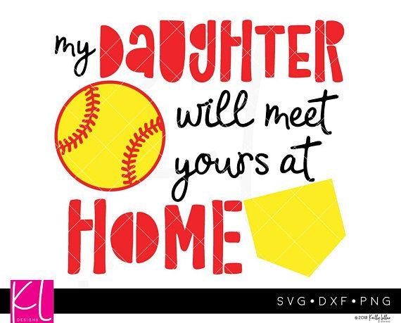 126c8a98 Softball Quote svg - Softball Mom svg - Softball Design - Catcher svg -  Home Run - Softball Shirt sv
