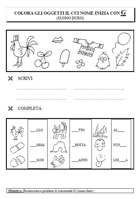 Giochi e colori schede didattiche del maestro fabio for Schede didattiche autismo
