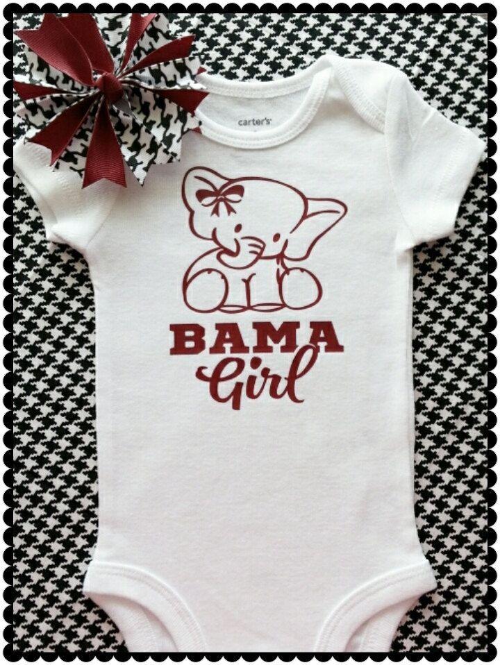 Alabama Crimson Tide Onesie Bodysuit Shirt Word Love