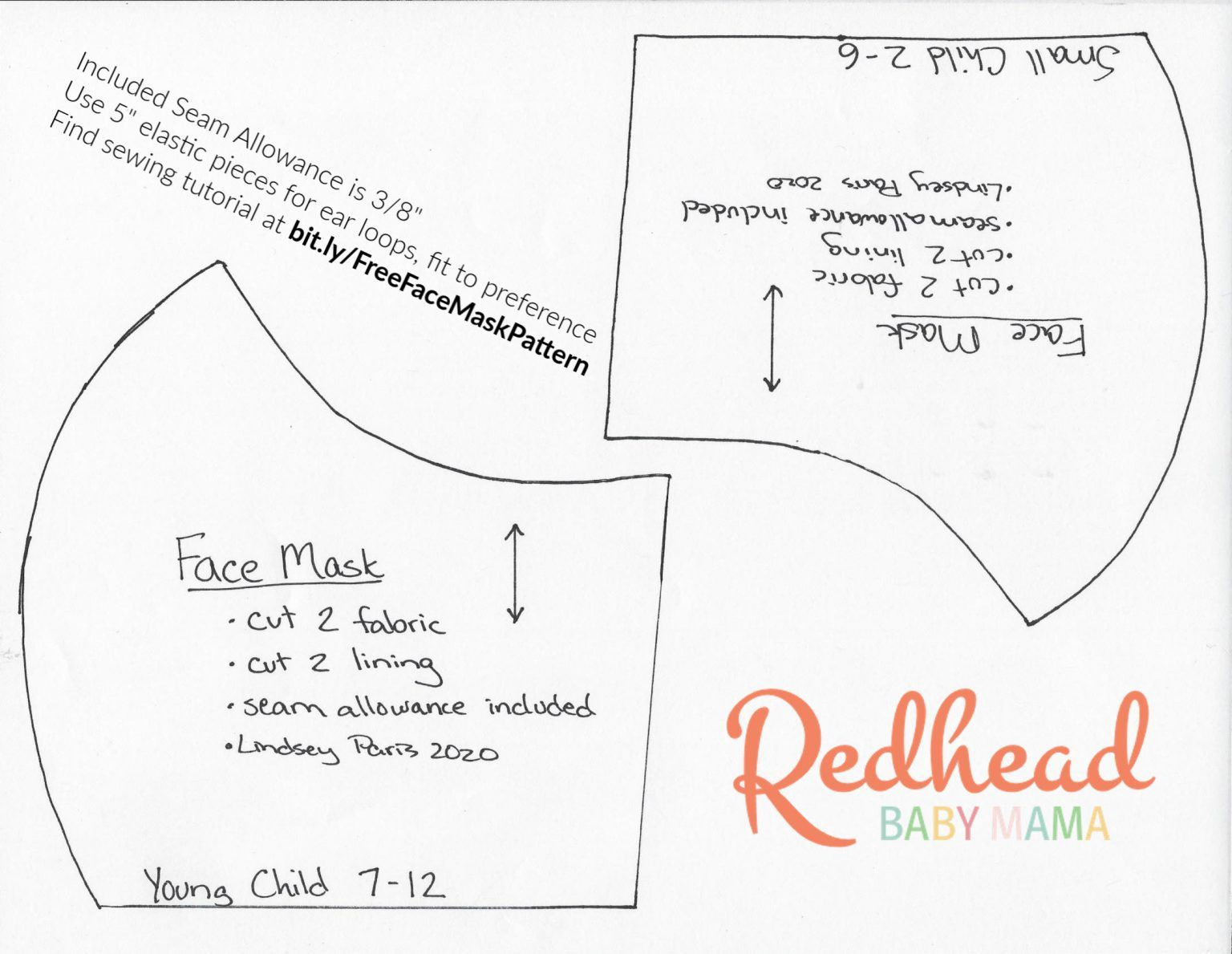 Free Face Mask Pattern Diy Tutorial With Pocket For Surgical Insert Redhead Baby Mama Atlanta Blogger In 2020 Easy Face Mask Diy Redhead Baby Face Mask