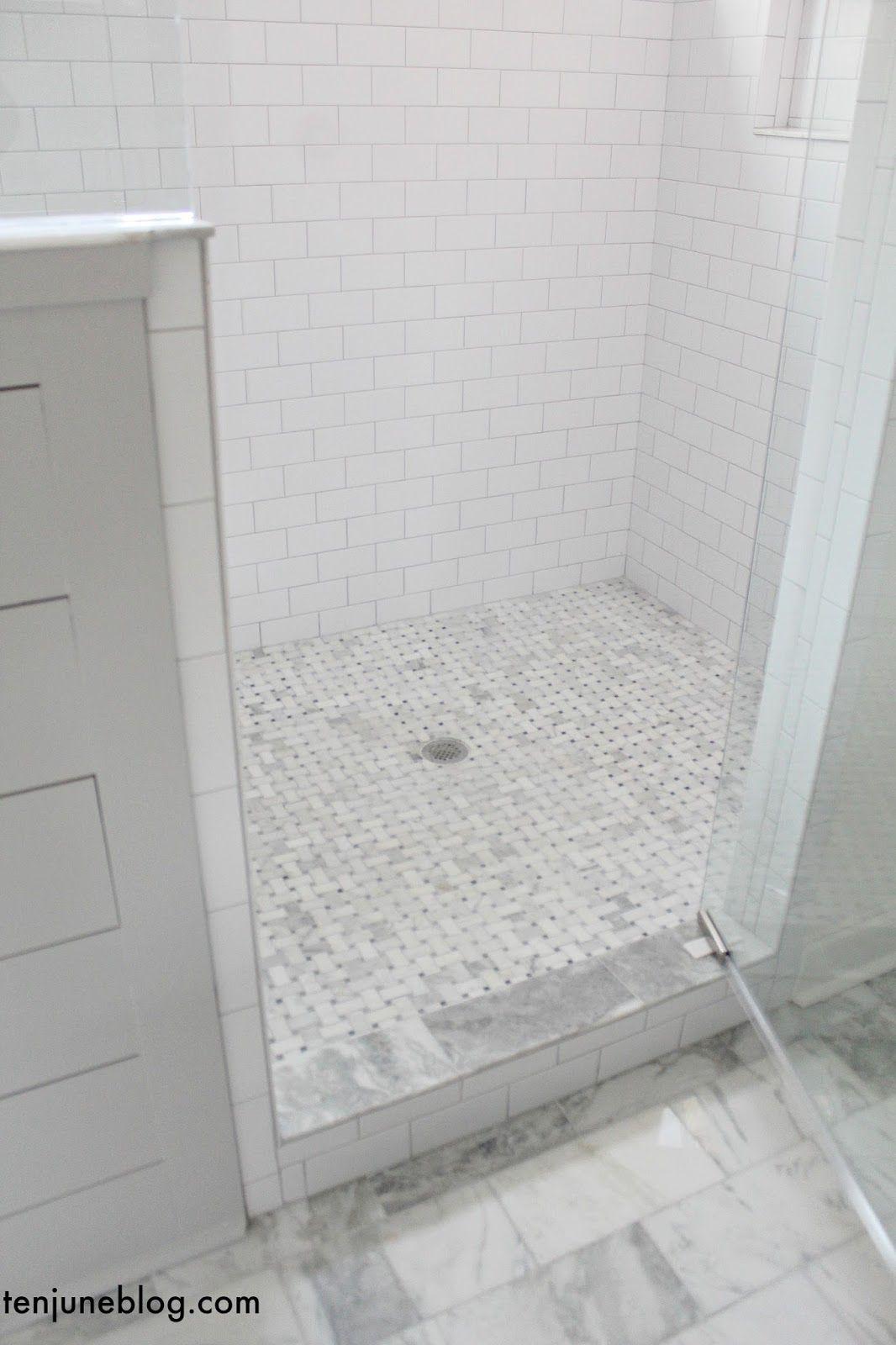 Ten June: Building Our Farmhouse: Tile + Grout Sources | master bath ...