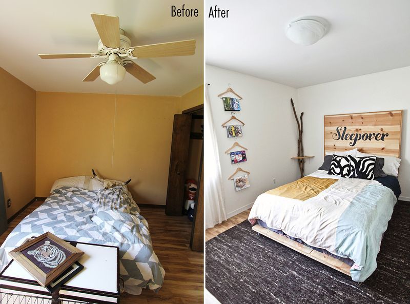 Emma S Guest Bedroom Before After A Beautiful Mess Guest Bedroom Design Guest Bedroom Guest Bedroom Decor Some changes to guest room