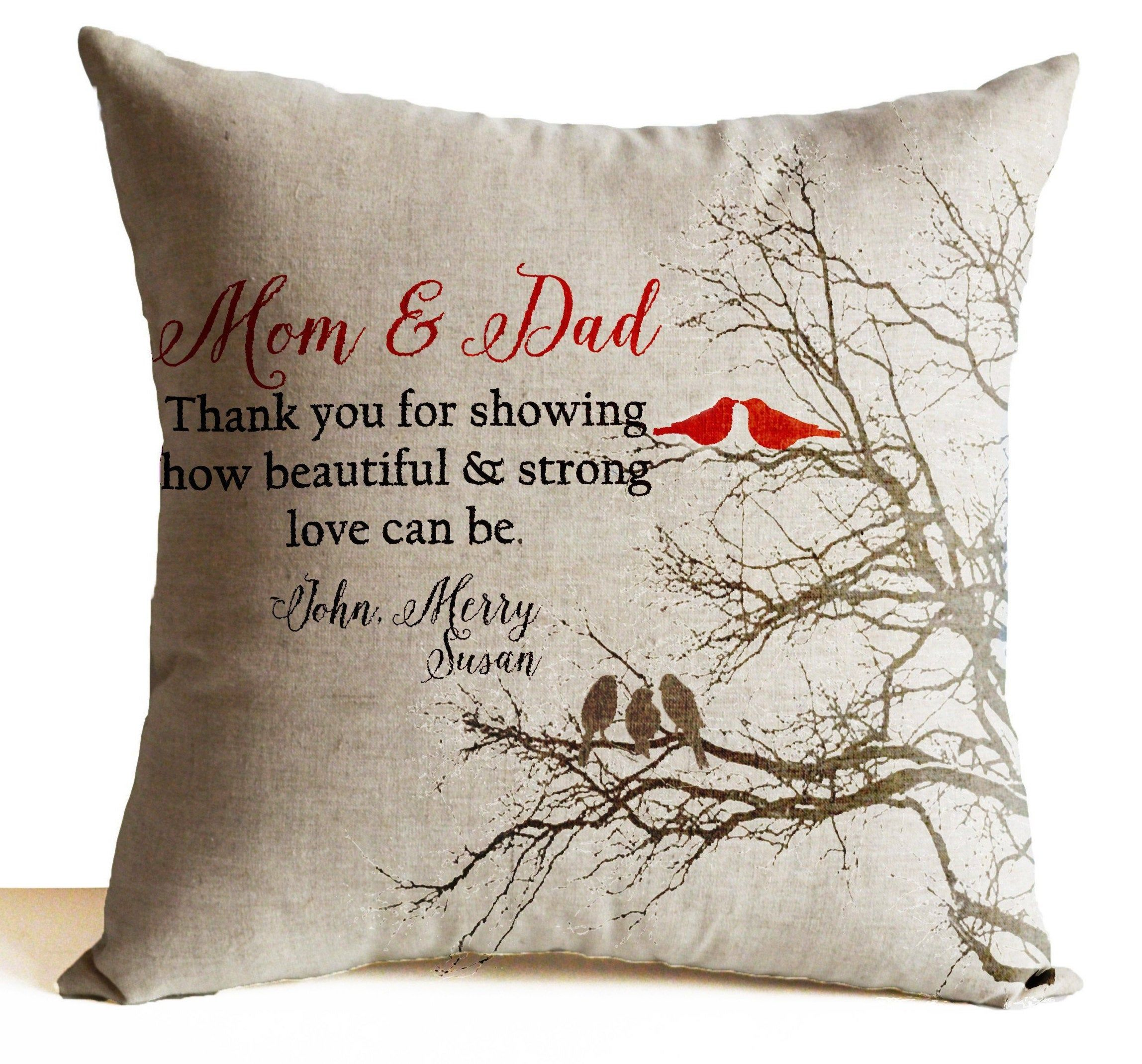 throw pillow gift for parents