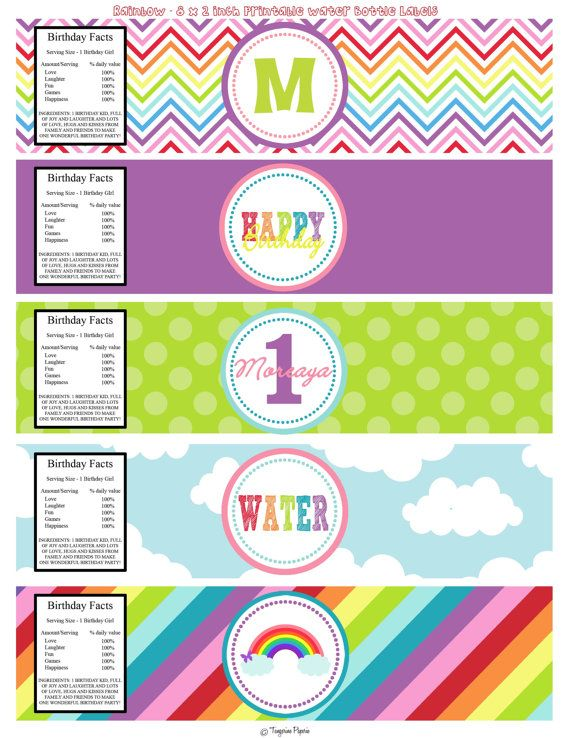 Etiquetas De Agua Para Imprimir My Little Pony Party Water Birthday Little Pony Party