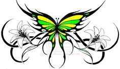 a6111cb46 Tribal Flower Tattoos | tribal butterfly 2 by ~KatieConfusion on deviantART