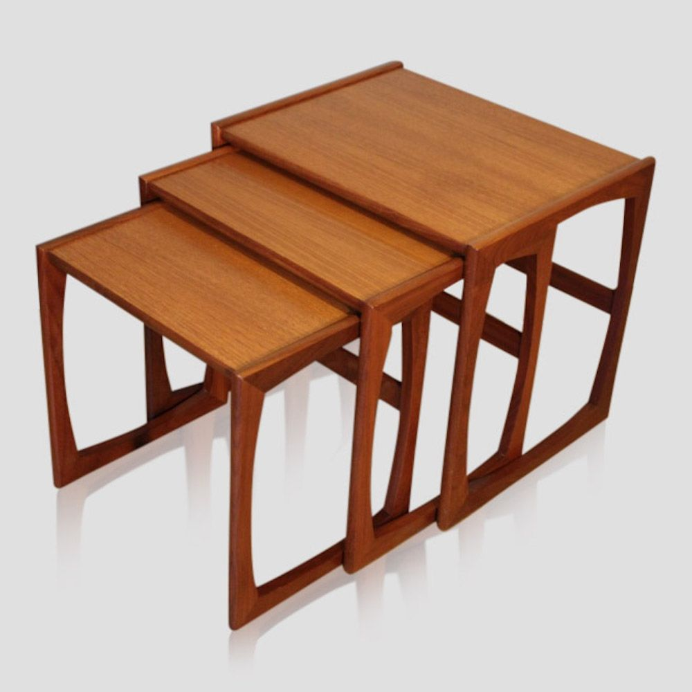 For Sale Nest Of Three Vintage Teak Quadrille Coffee Tables By G Plan 1960s Coffee Table Table Teak
