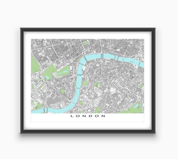 Street Map Of London Uk.London Art London Map Print England Uk United Kingdom City