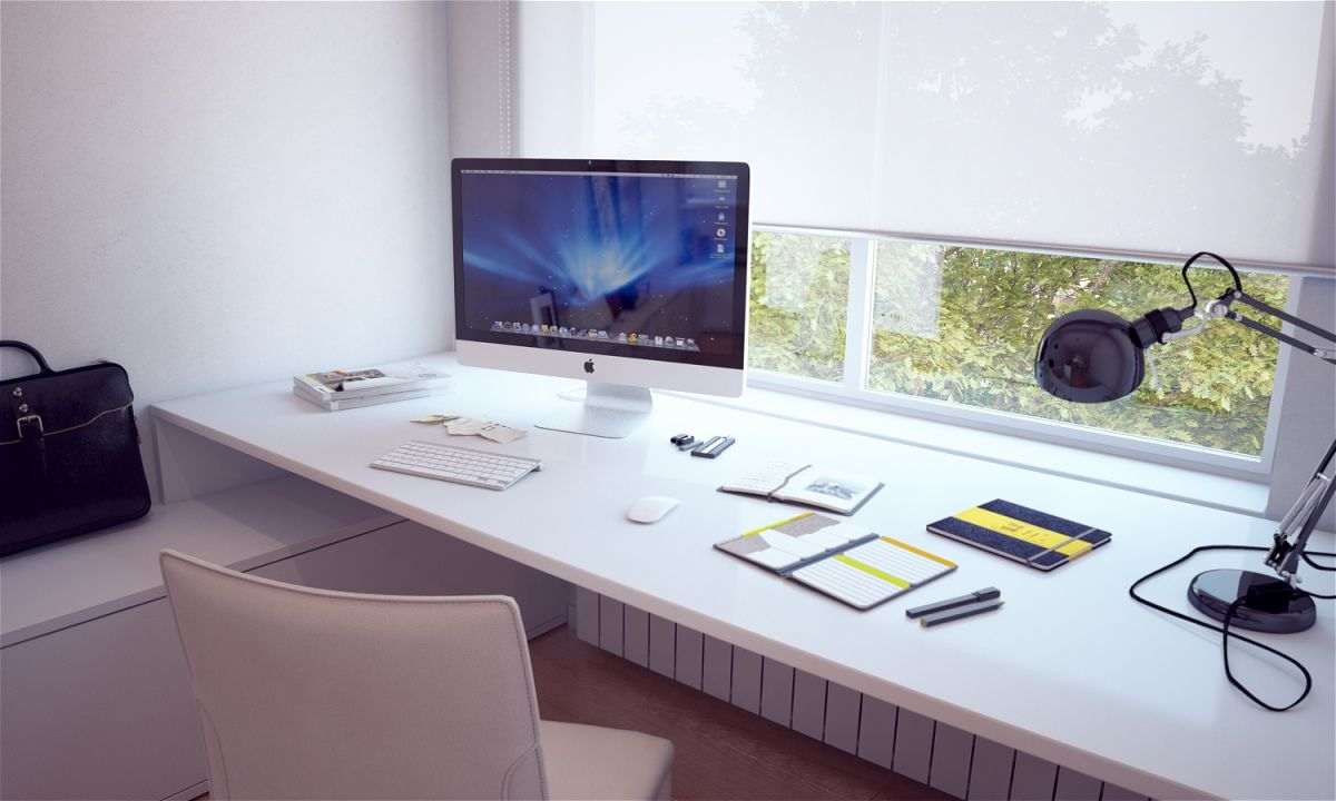 Design Desk White For Mac Computer Table Furnishings With Charming