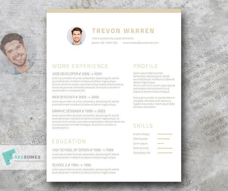 Free Clean Resume Template For Word \u2013 Champagne  Wine #simple