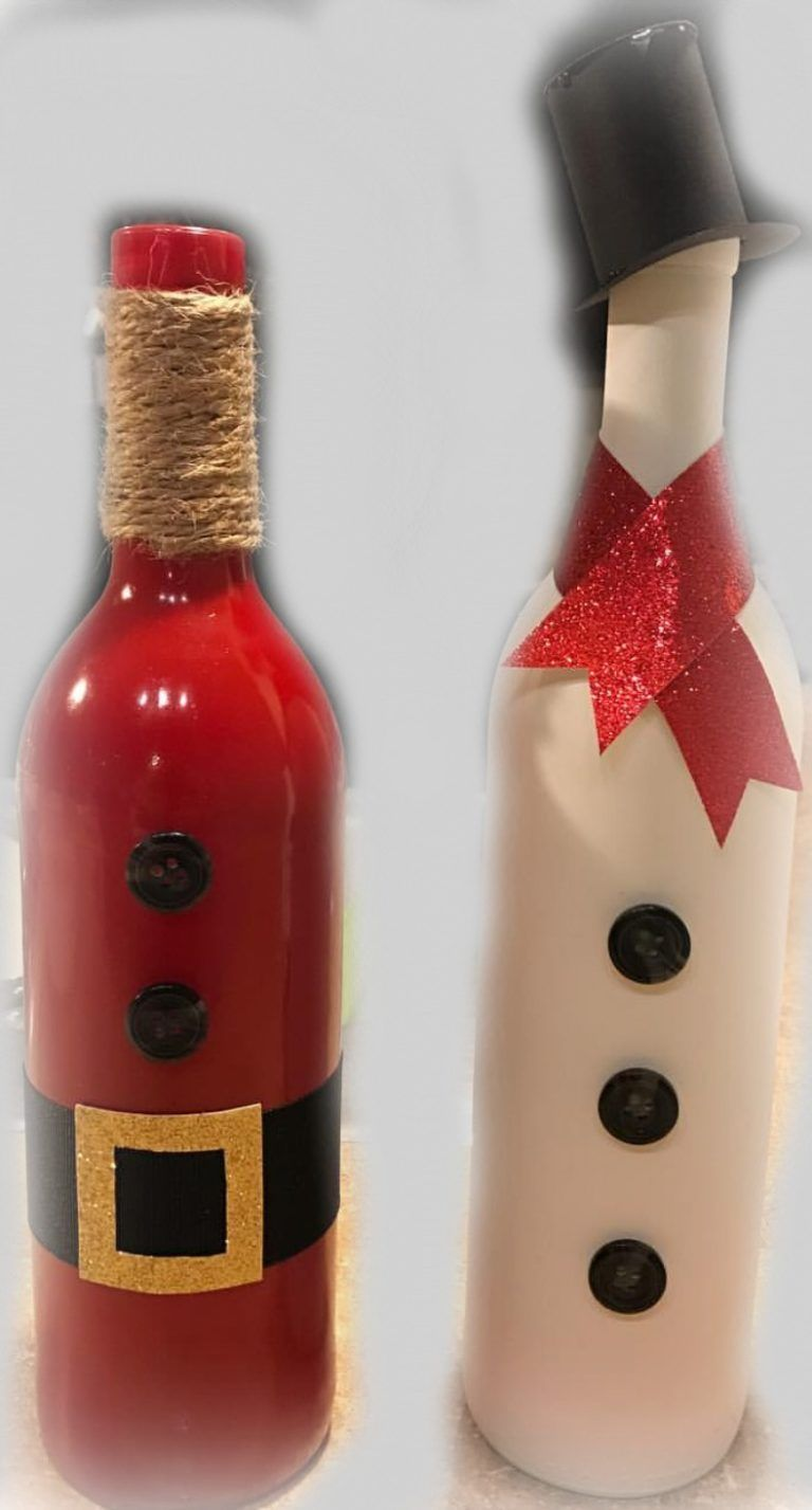 Upcycle Christmas Ideas Christmas Wine Bottles Diy Bottle Crafts