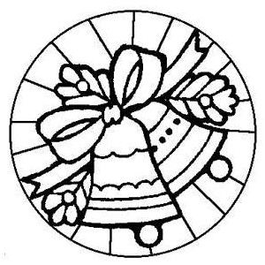free kids christmas coloring pages stained glass bells pr