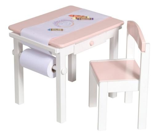 $148.00 Childrens Art Table - Art Table u0026 Chair Set Pink - Guidecraft - G98048.  sc 1 st  Pinterest : baby table chair set - pezcame.com