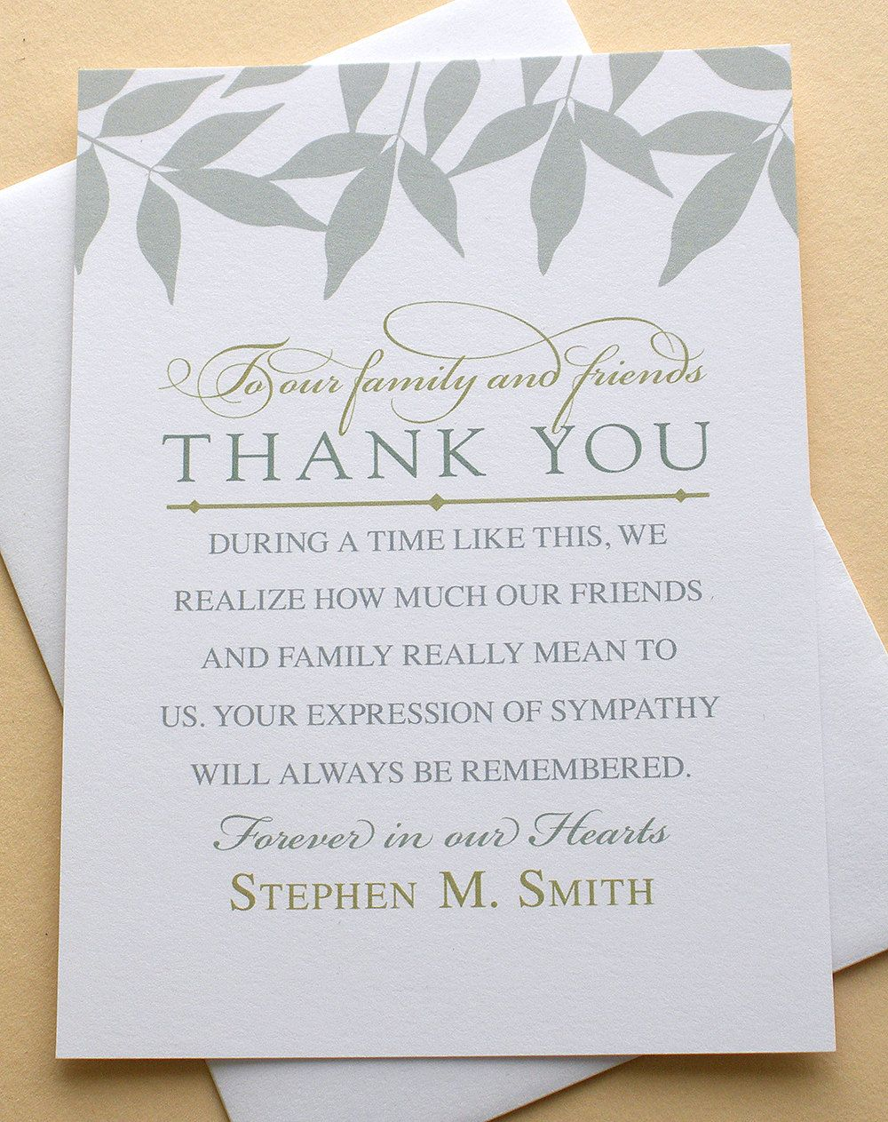 English and spanish sympathy thank you cards with blue