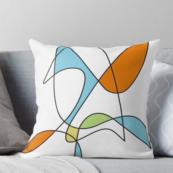Mid Century Modern Abstract Design Throw Pillow By Imagepixel In 2020 Midcentury Throw Pillows Throw Pillows Pillows