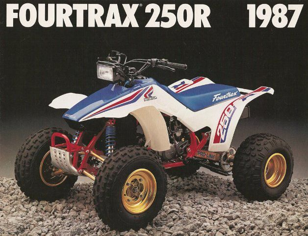 1987 Honda Fourtrax 250r This Was The Rival For The Suzuki Quadracer These Were Just Fast Photo Courtesy Of Vintage Factory At Dirtbikes Honda Bikes Honda