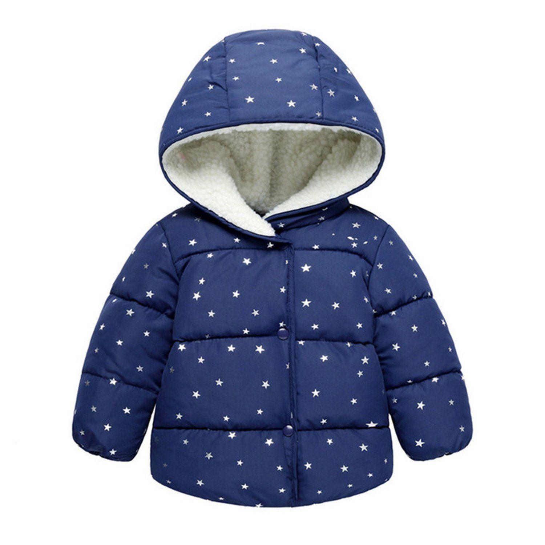 55e384b35e61 David Nadeau Winter Warm Hooded Coat New Baby Girls Hooded Jackets ...