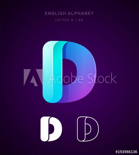 Alphabet Letter D Logo Template Lettering Alphabet Alphabet Lettering