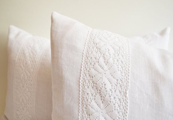 White Lace Pillow Decorative Throw Pillows Bobbin Lace