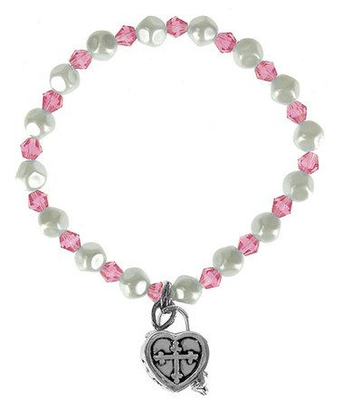 Take a look at this Dark Pink Heart Prayer Box Bracelet by Alexa's Angels on #zulily today!