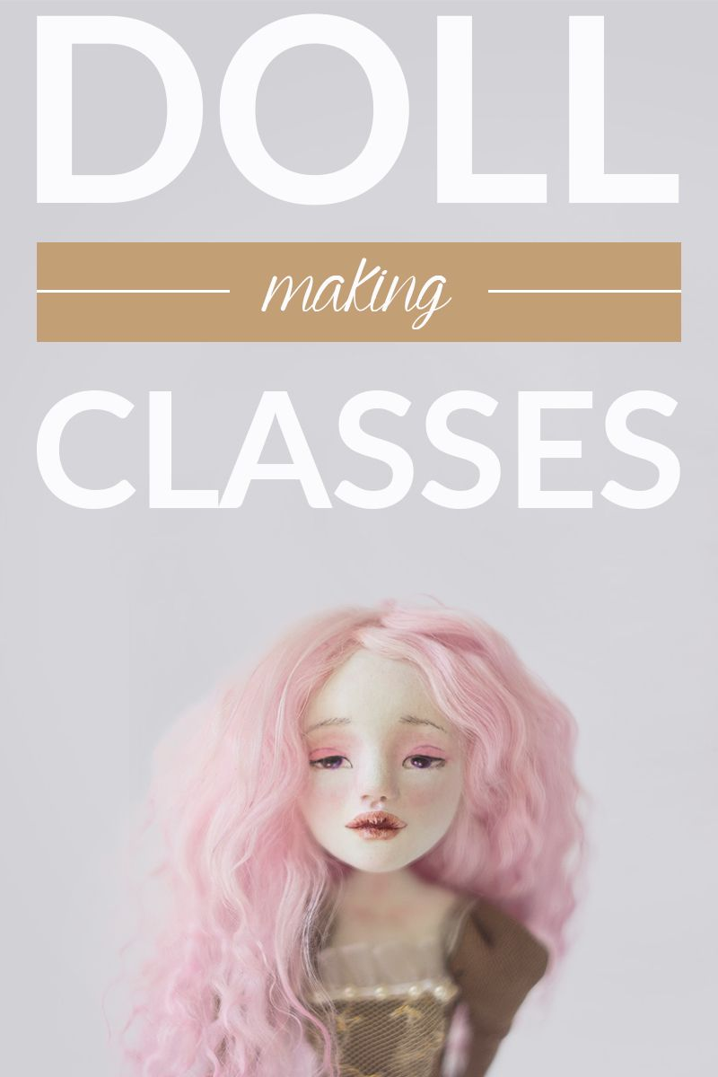 Doll making online classes. From the first steps of sculpting to the costume making by Adele Po. Tutorials, step-by-step guides, videos, and pictures to help you create an art doll! #dollmaking